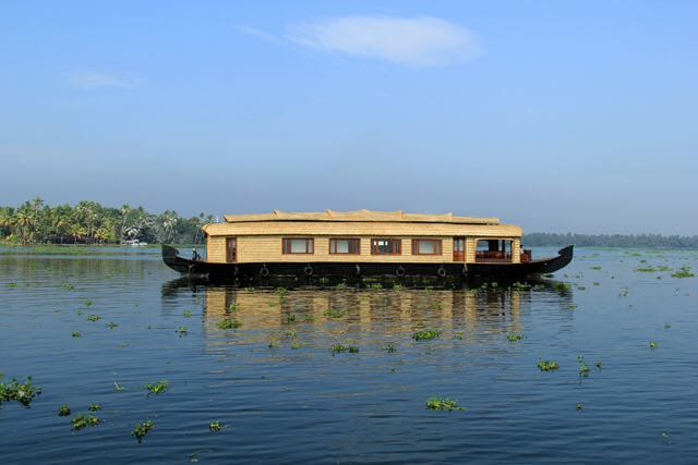 Blue green Houseboat Alleppey