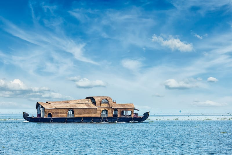 Houseboat on the vembanad lake alleppey